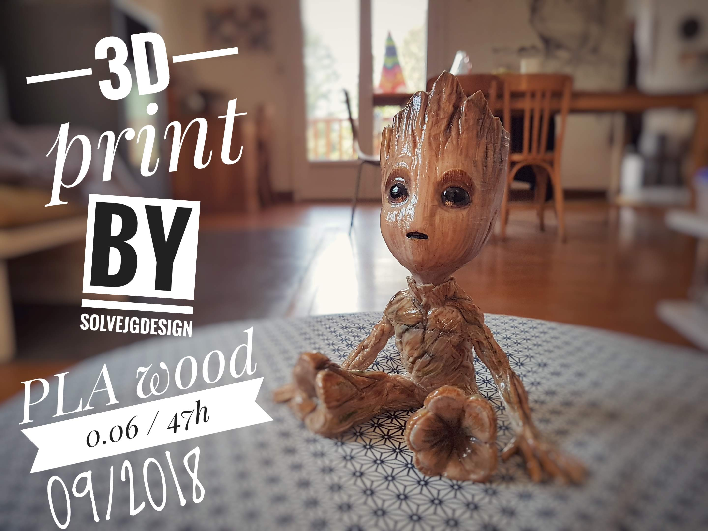 Impression 3D - Groot - solvejgdesign